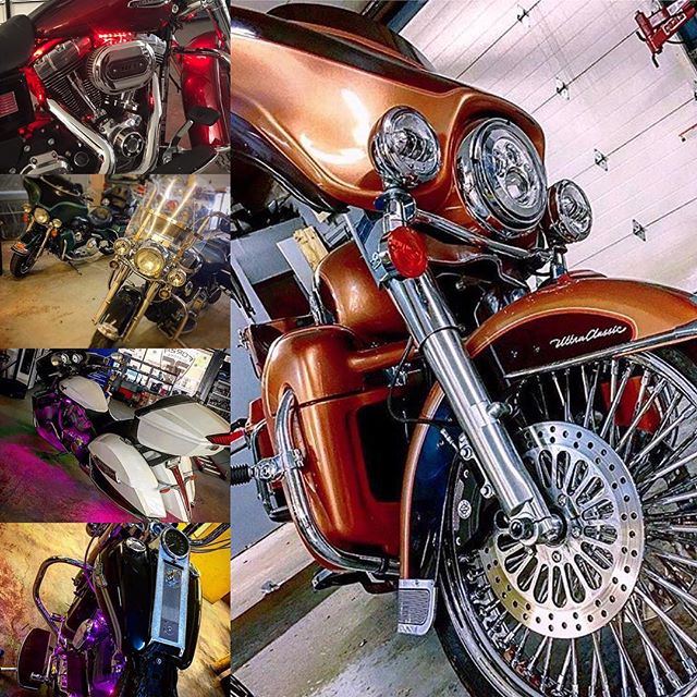 Get your bike ready for summer! Anything from LED lighting, sound systems, stereos we got you covered.  #harleydavidson #ledlights #soundsystem #motorcycle #forzacustoms