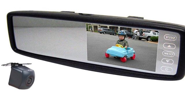 Accele rear view mirror with back up camera package deal, on sale for only $249.99. Installation included call and schedule your appointment now! 708.474.6625