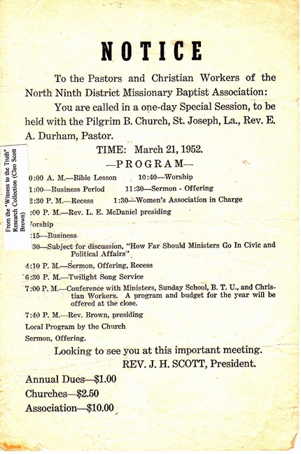 1952 Ninth District Special Session