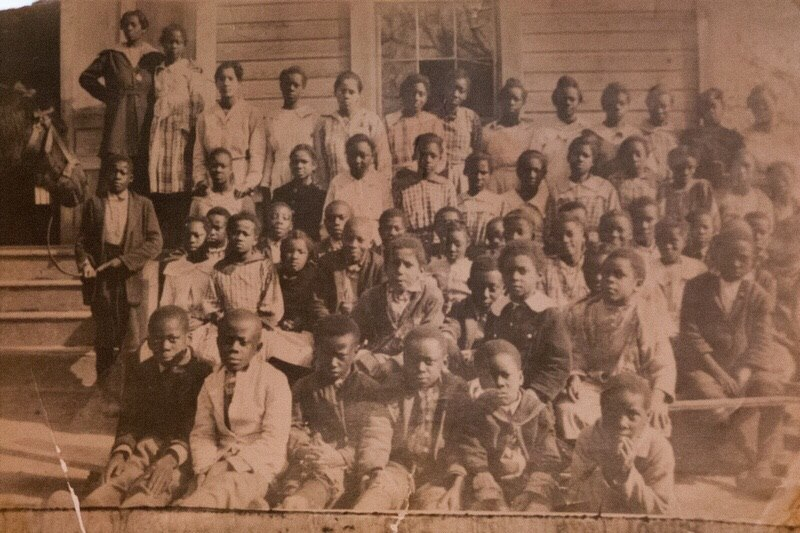 Students of the school started by the Baptist Association, picture taken apprx. 1920 or 21