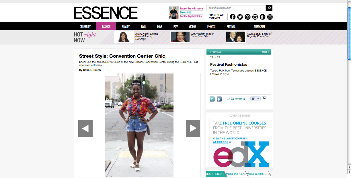 Essence Festival 2013 Street Style feature
