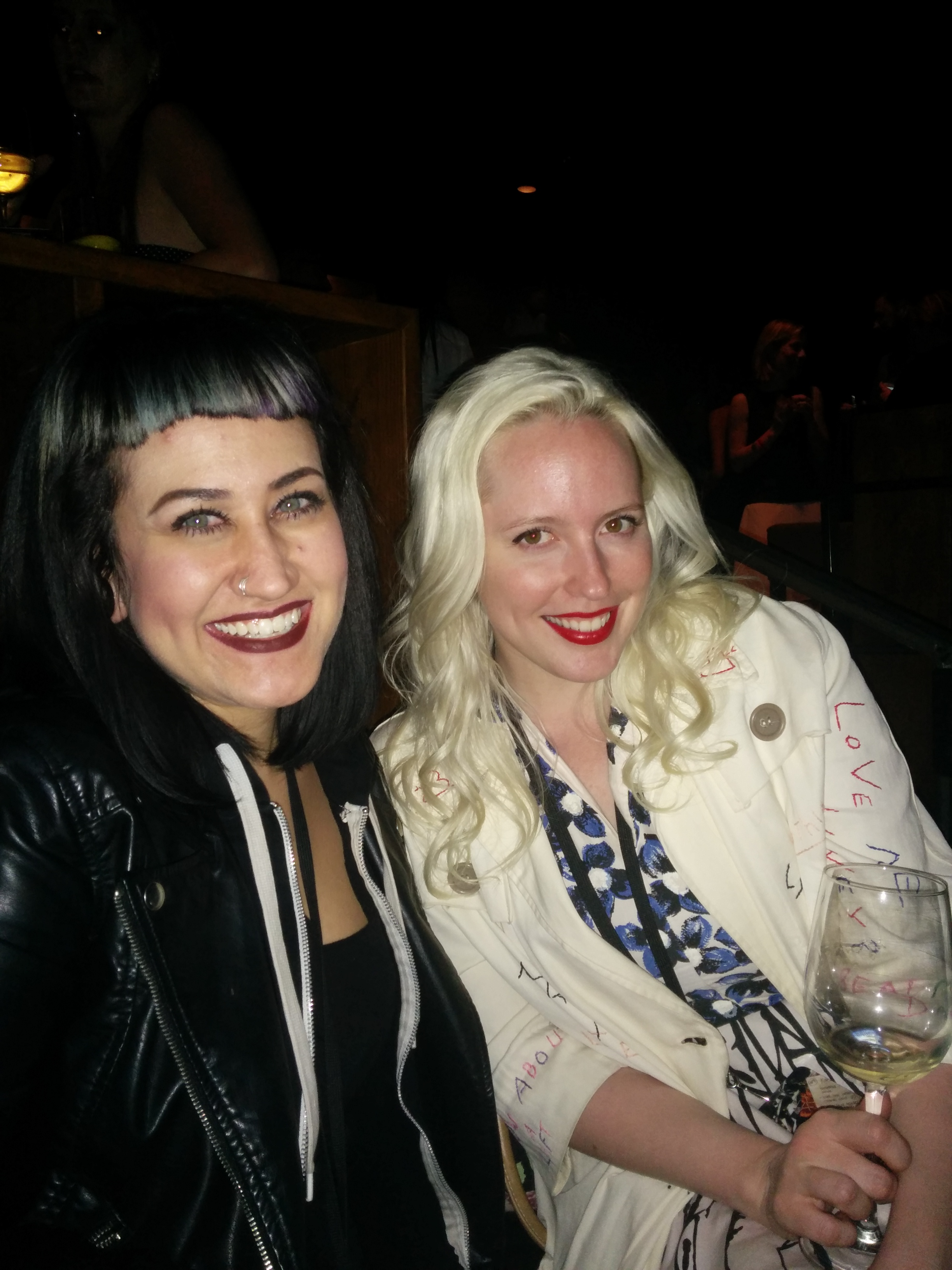 Afterparty funners.  Christina and Carmen Jaudon of The Close Case Vintage Boutique