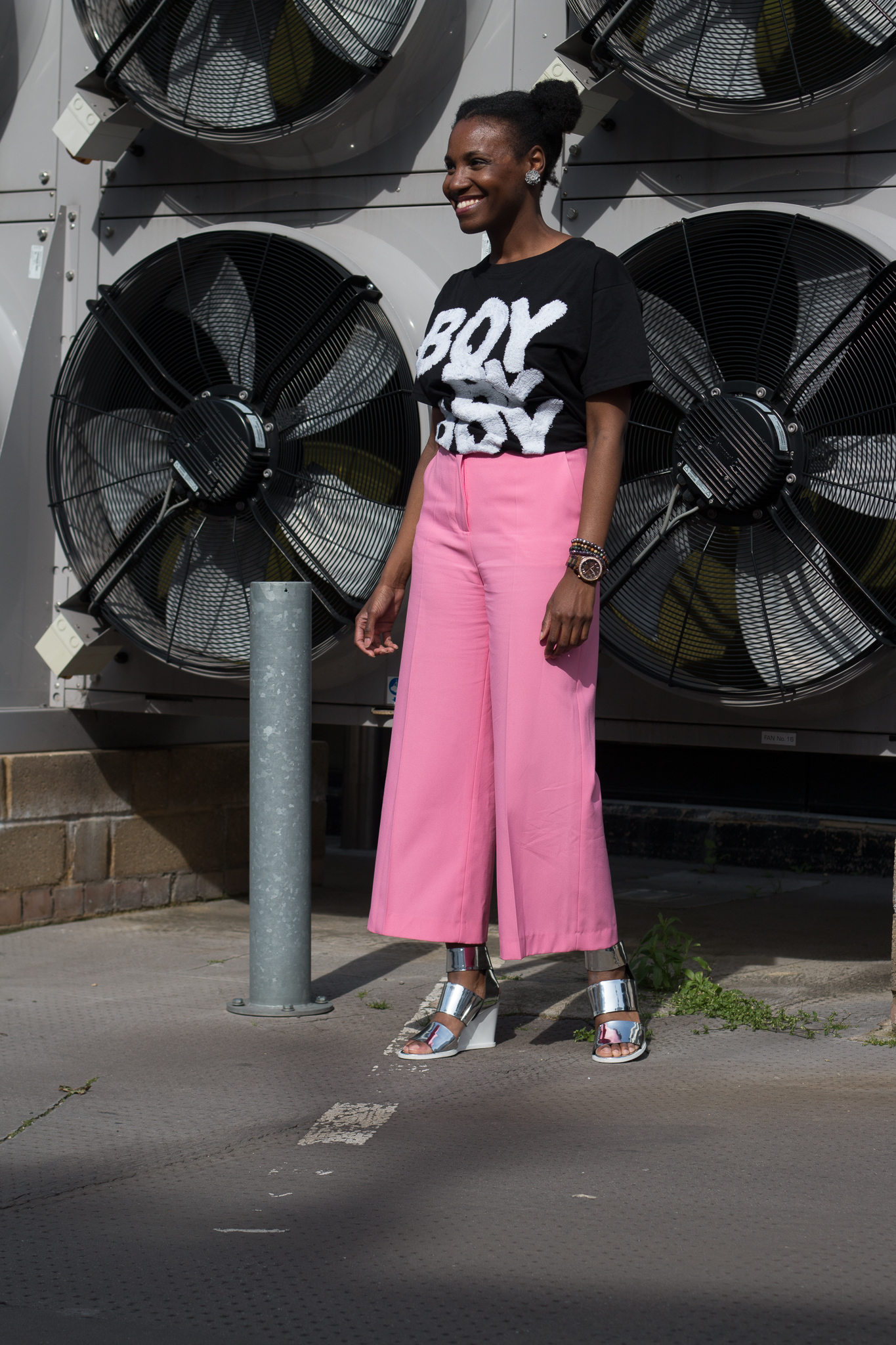 outfit details - shirt: gifted from Boy By Boy fashion show; culottes: Zara; shoes: & Other Stories