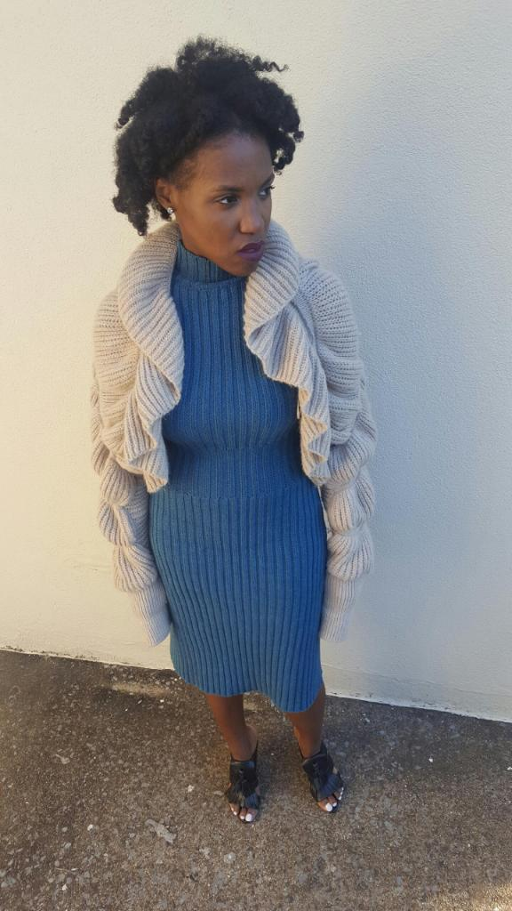 outfit deets - sweater:  H&M ; dress:  thrifted ; shoes:  Zara