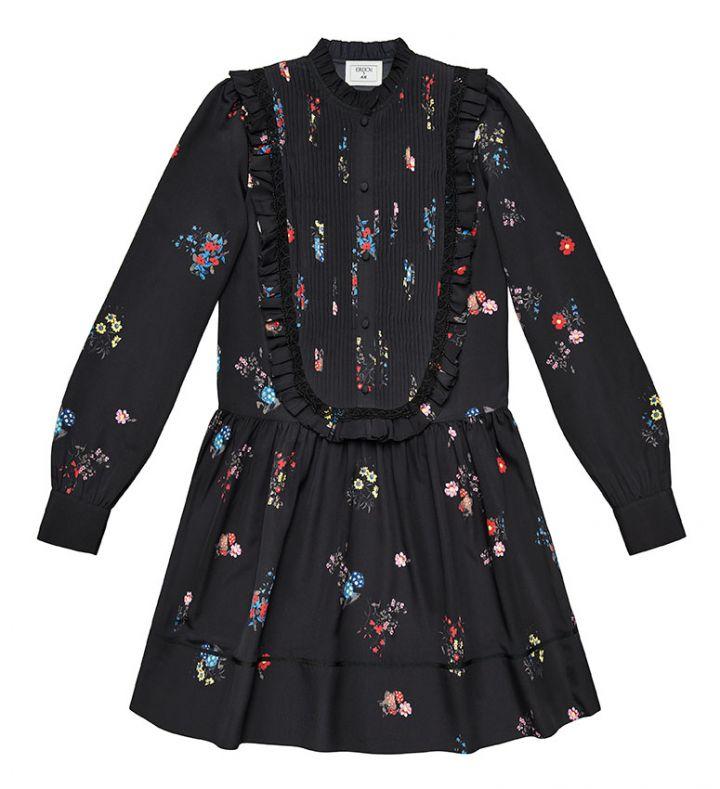 black patterned dress