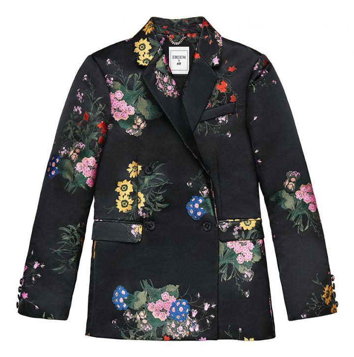 Jacquard patterned blazer