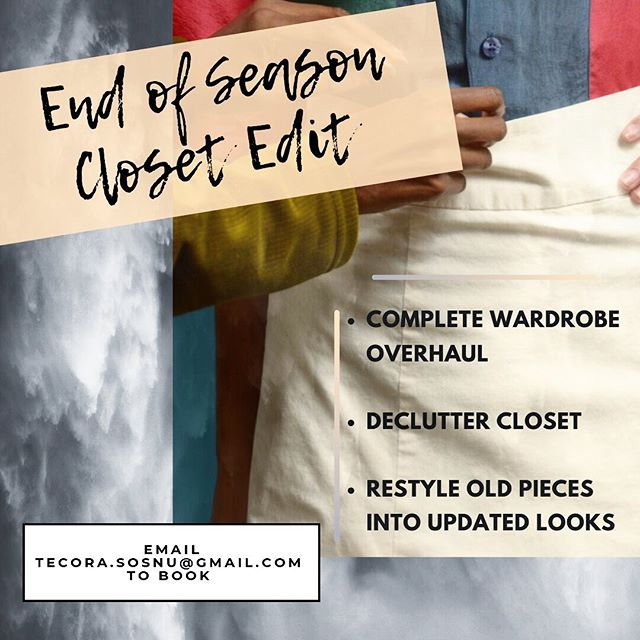 As summer is closing out and cooler temps are upon us, it's a great time to do a complete closet overhaul.  If you're looking to clear out the old in order to make way for some new things - shoot me an email 😉