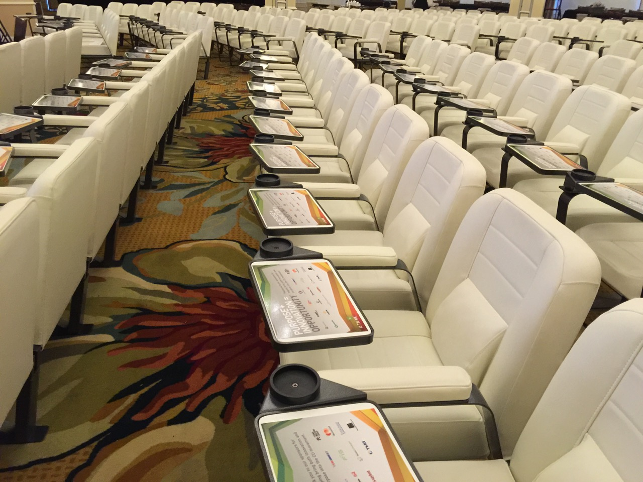 Check out the seating!Yet another example of how this is not your typical conference!