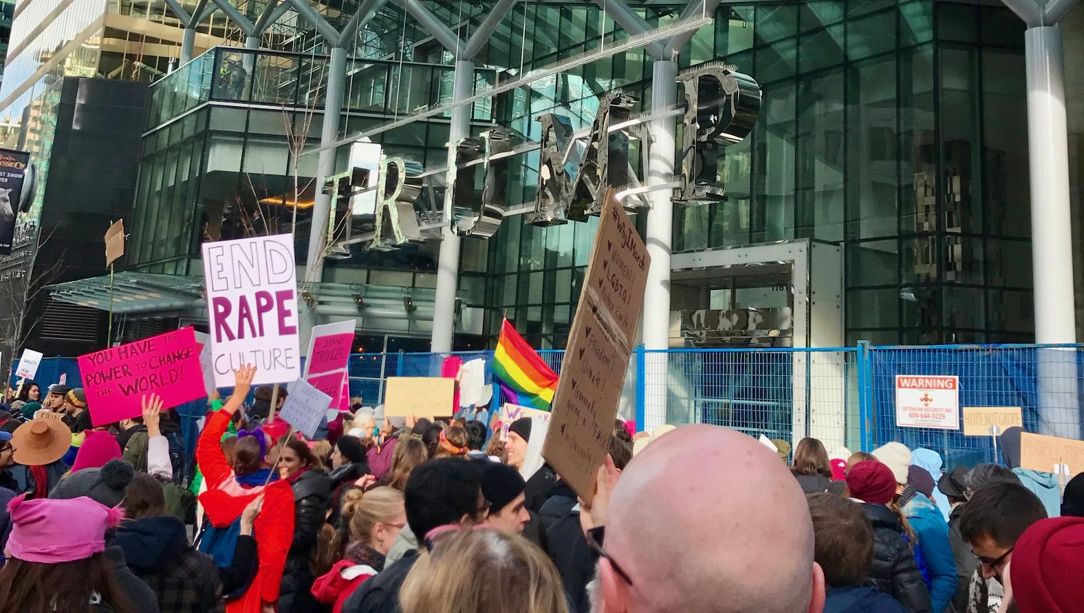 I took this photo at the new Trump Tower during the Vancouver Women's March on January 21.