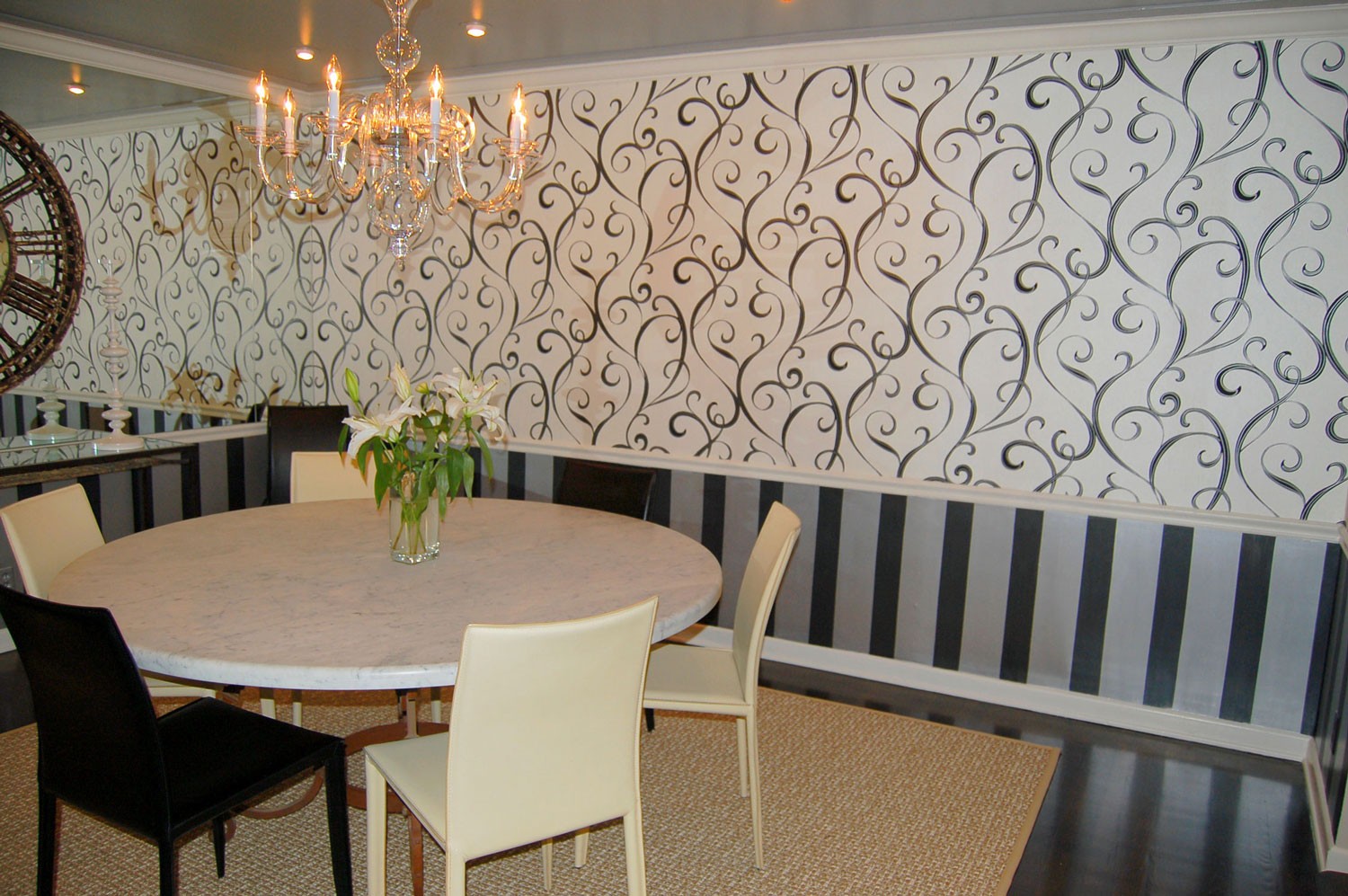 Dining room goes contemporary