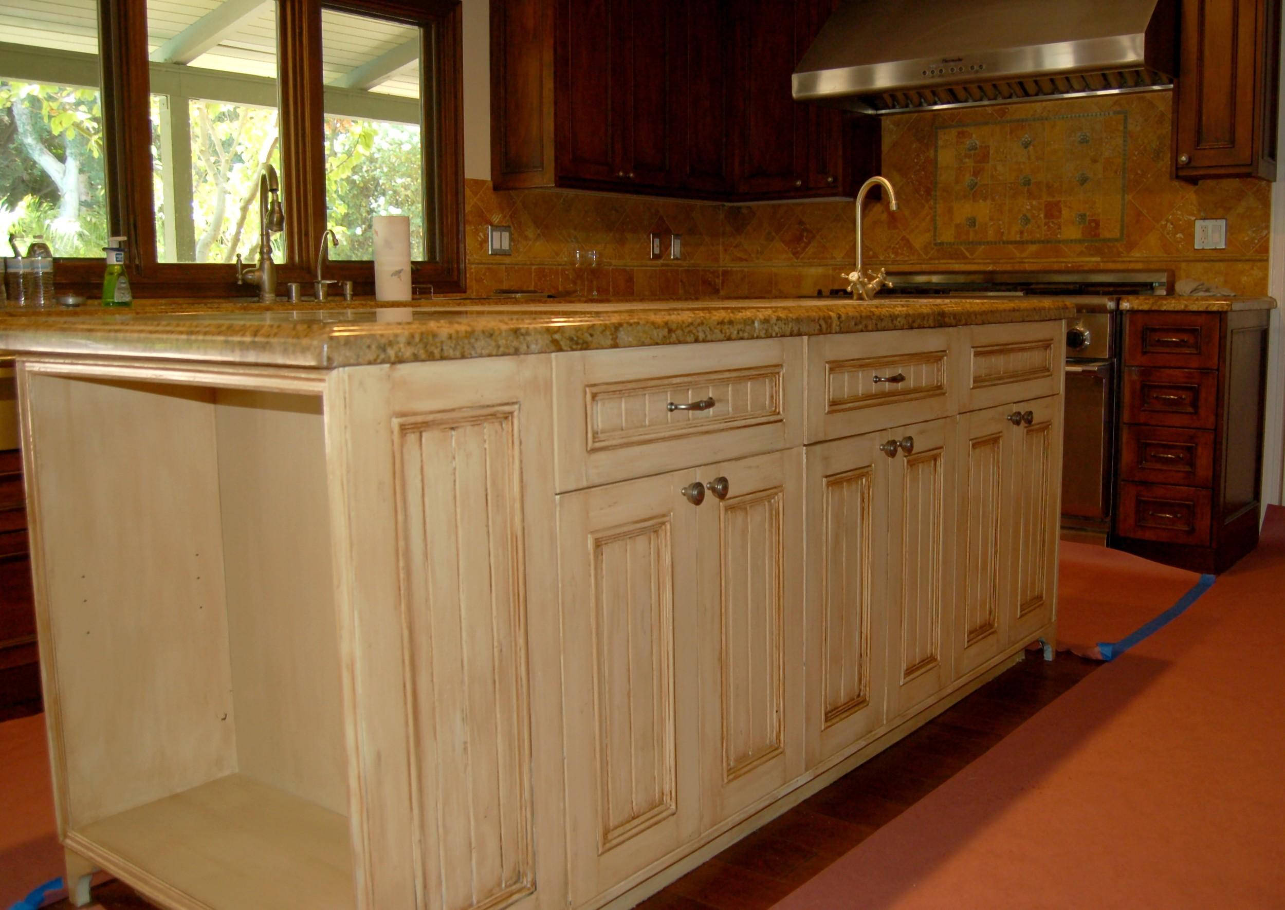 Kitchen island cabinet faux.JPG
