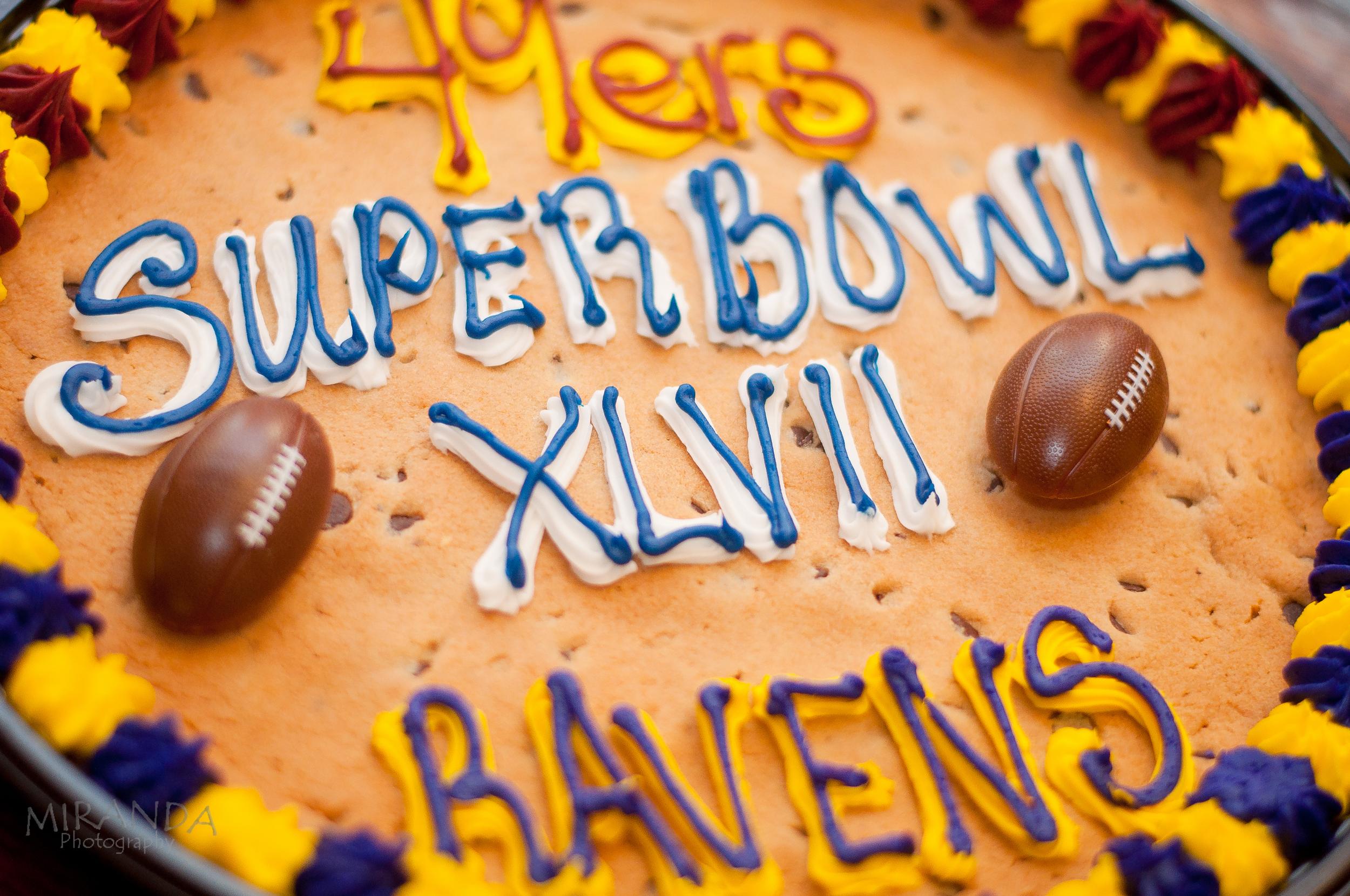 Superbowl Cookie Cake