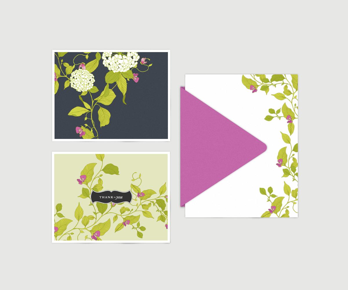 hydrangea pattern, hydrangea illustration, hydrangea, stationery, greeting cards, notecards, floral, floral pattern, melissa crowley,