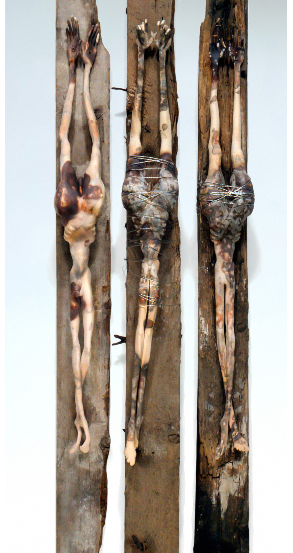 'Golgotha'. Earthenware Terra Sigillata, wood, wire. 1993