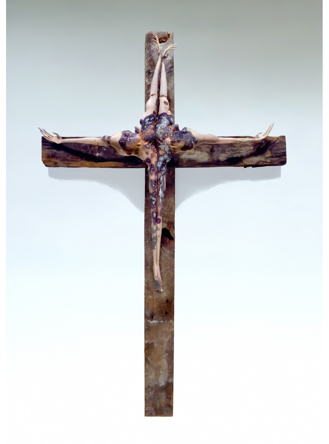 'Cruciform'. Earthenware Terra Sigillata, wood wire. 1993