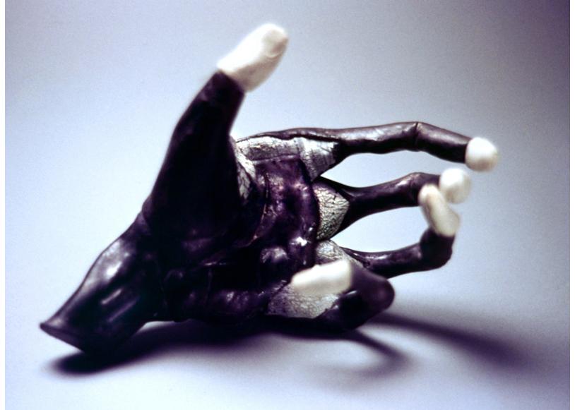 'Organic Prosthetic'White Stoneware, cobalt slip, porcelain. 1997