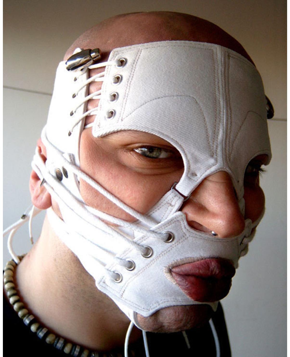 Face Corset. White Cotton Drill. 2002