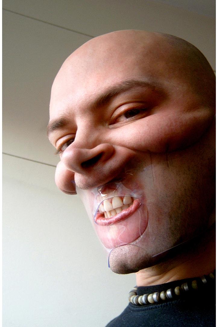 Face Corset. Transparent PVC. 2002