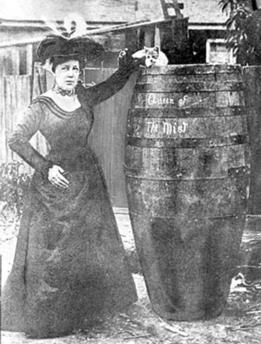 """""""Daddy says you always find a cat in a barrel!"""" says Roo of her daring plan."""