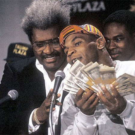 Don King has client Mike Tyson explain the facts of life to new stablemate Roo.