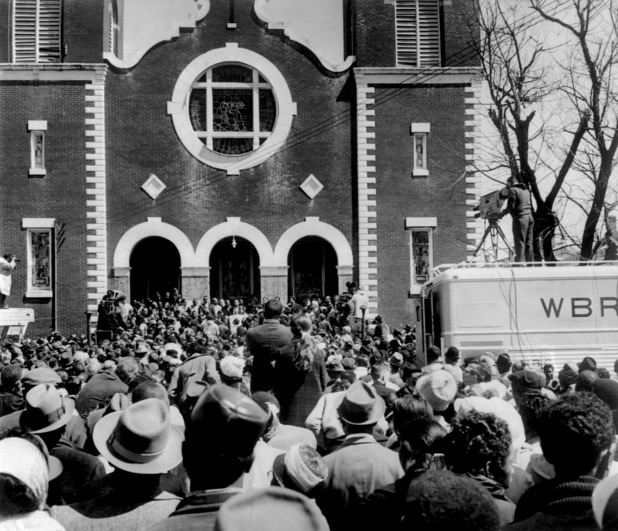 Brown Chapel AME Church in Selma during the marches in 1965