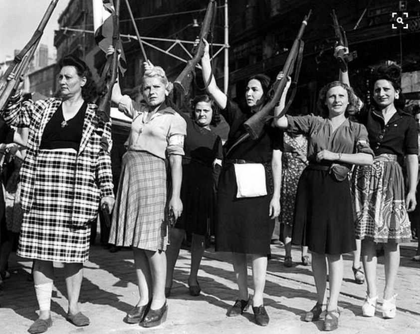 Brave French members of the Résistance who helped defeat the Nazi occupation of France, 1943.