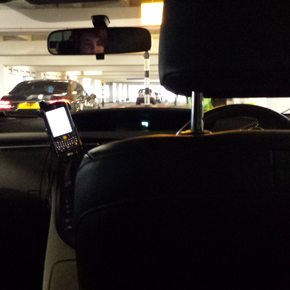 My driver is sitting on the wrong side!