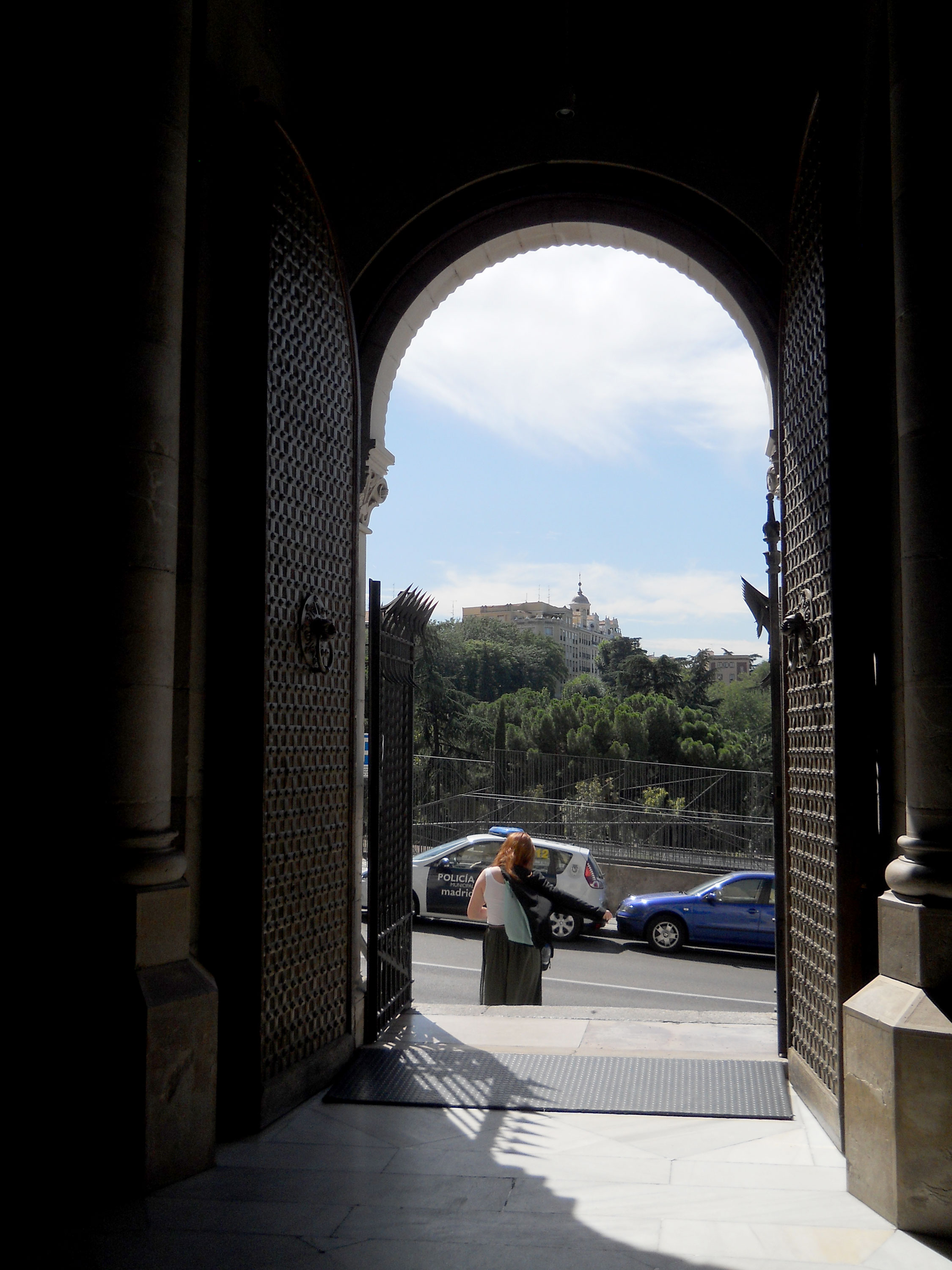 Looking out from the Crypt