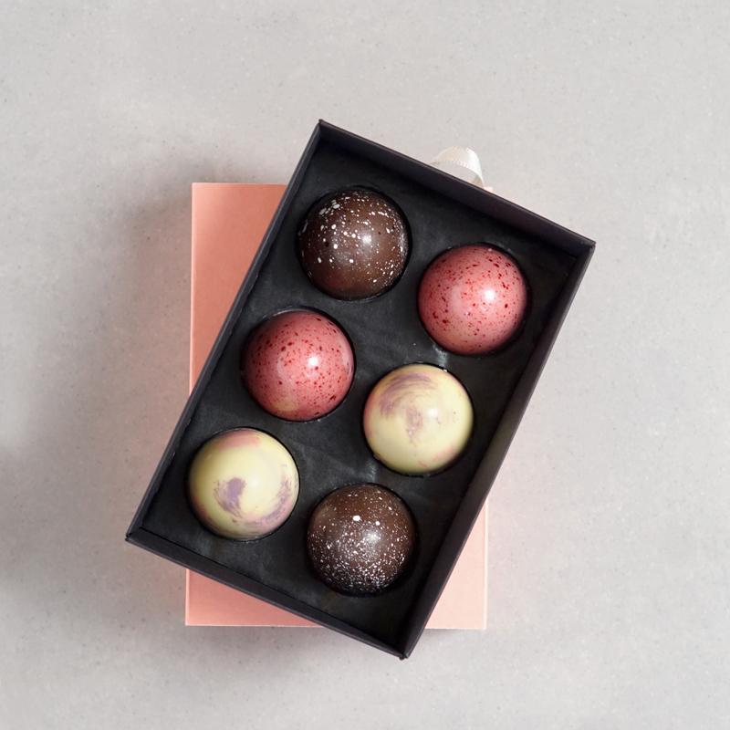6 Chocorons in Geschenkbox