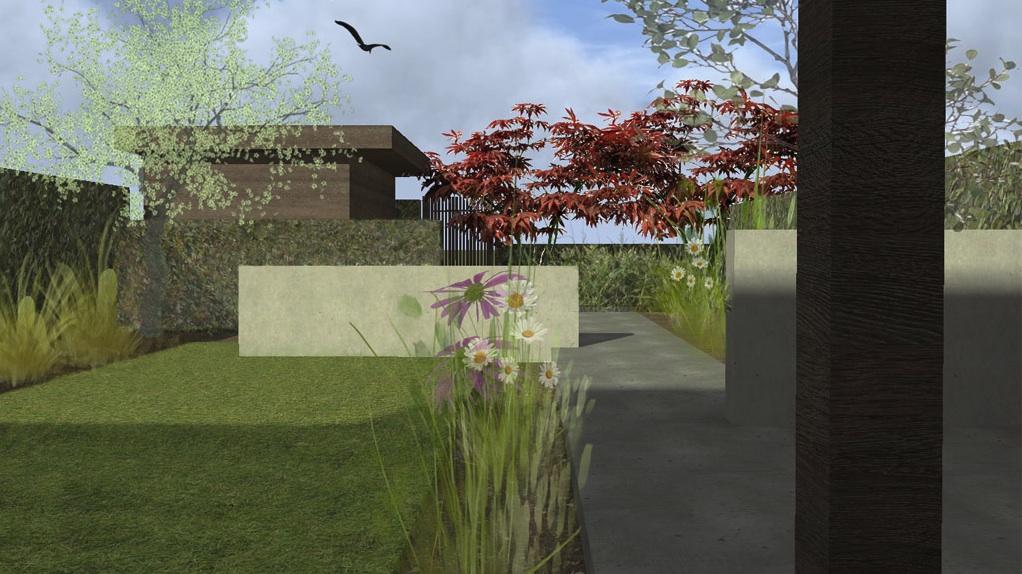 Tuinontwerp voor een achtertuin in Noord-Holland