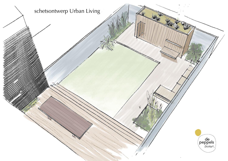 tuinontwerp moderne stadstuin Amsterdam