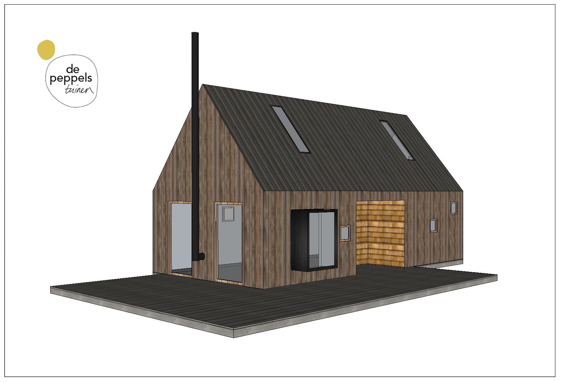 houten bijgebouw