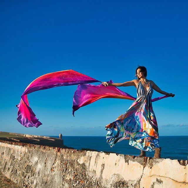 #inthewind  #photography @peterruprecht #peterruprecht #dress by @asakaftans #asakaftans #puertorico #silk #silkfans #kaftan #kaftandress #oldsanjuan @oldsanjuanpr @hashtagpuertorico #hashtagpuertorico