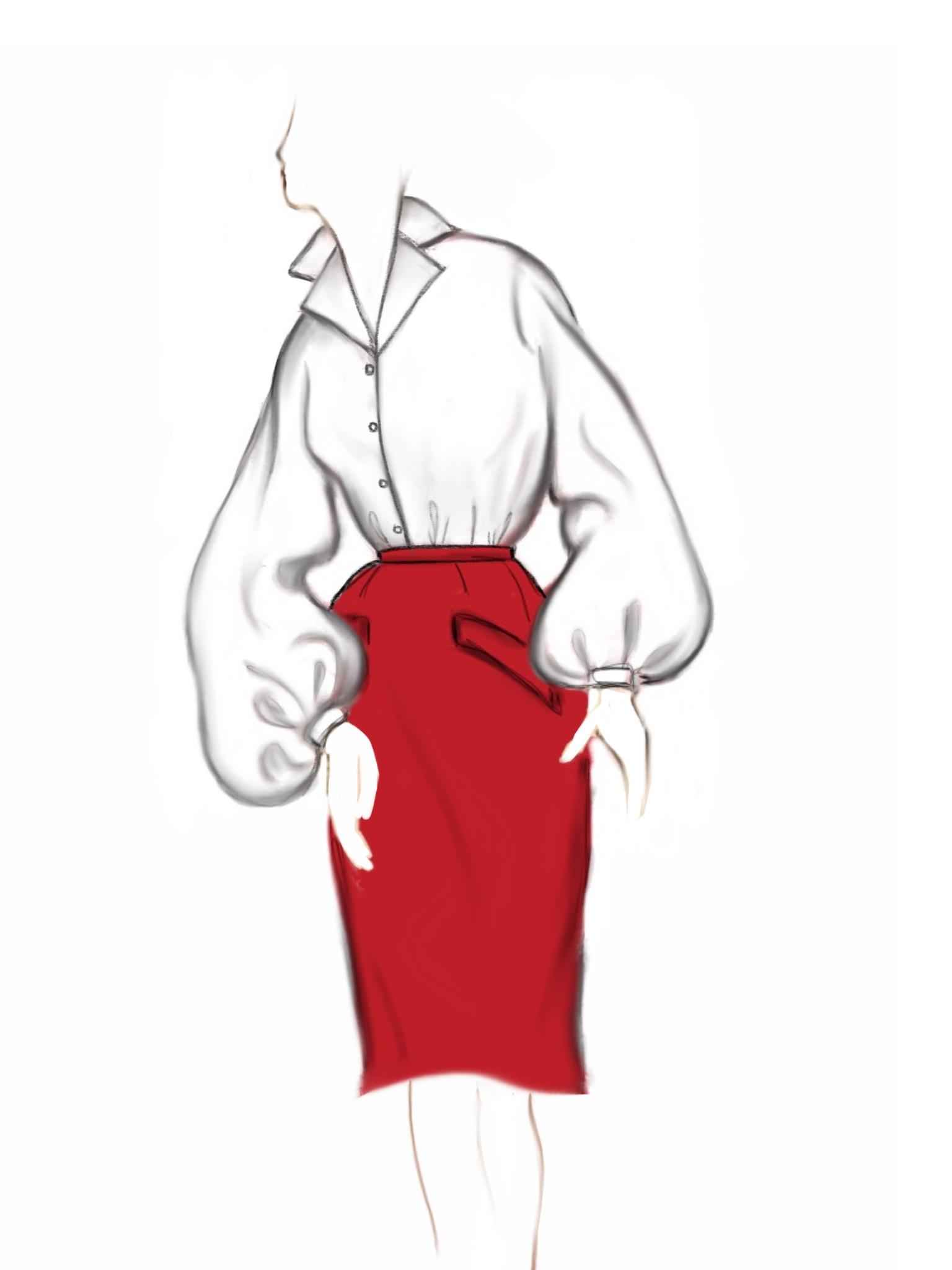 50's inspired crisp blouse