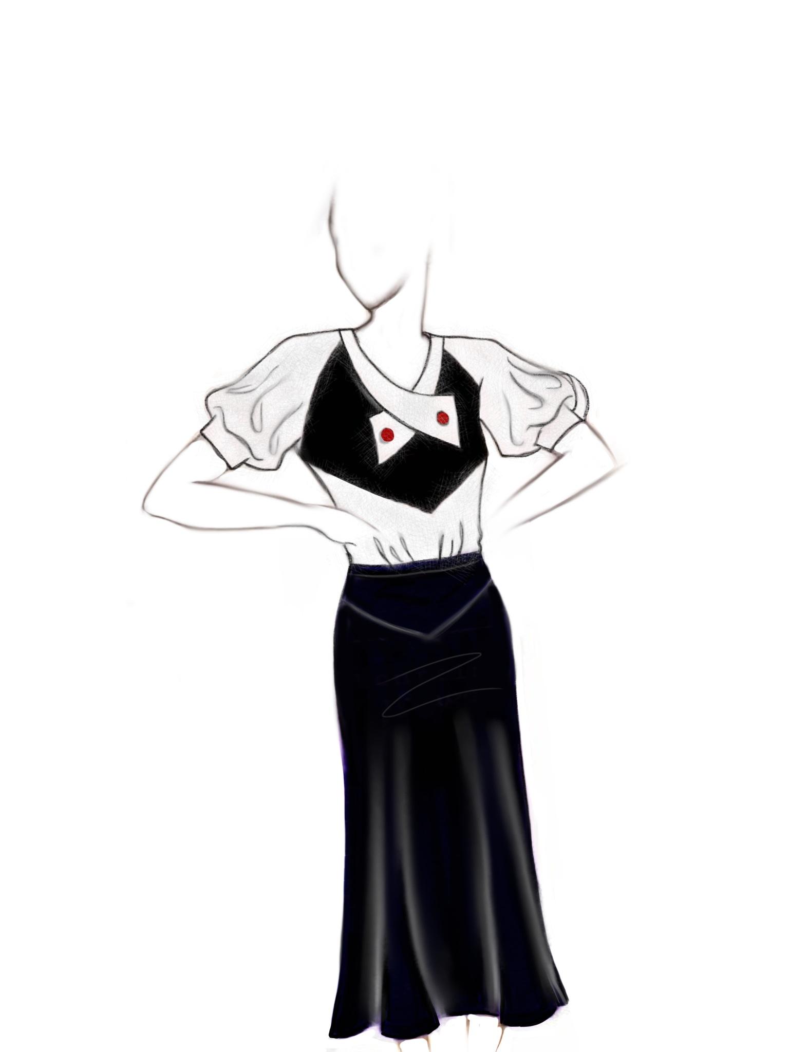 1930's inspired blouse