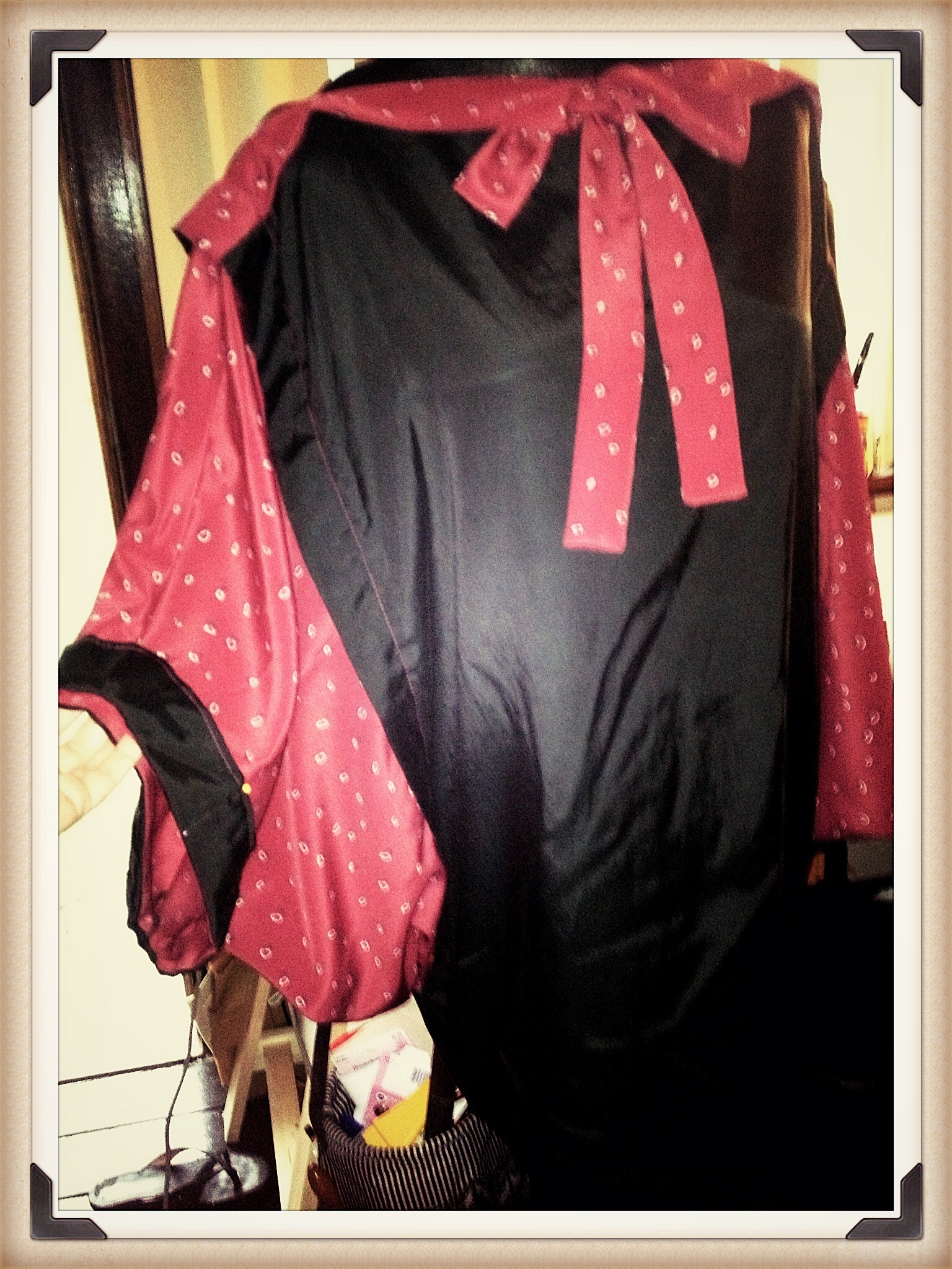 1920's tabard style blouse with set-in batwing sleeves