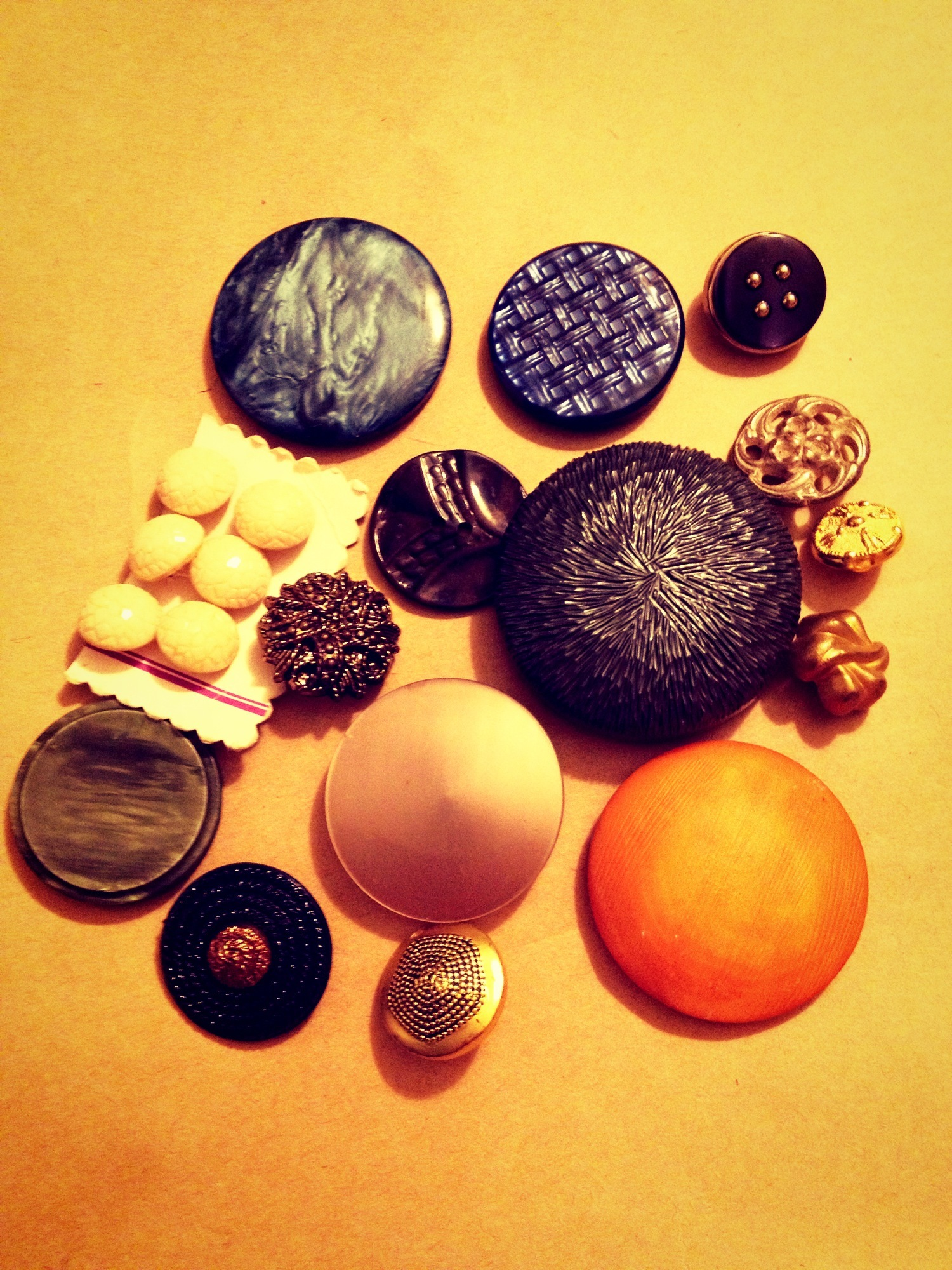 Some of my favourite vintage buttons, just waiting for the right project!