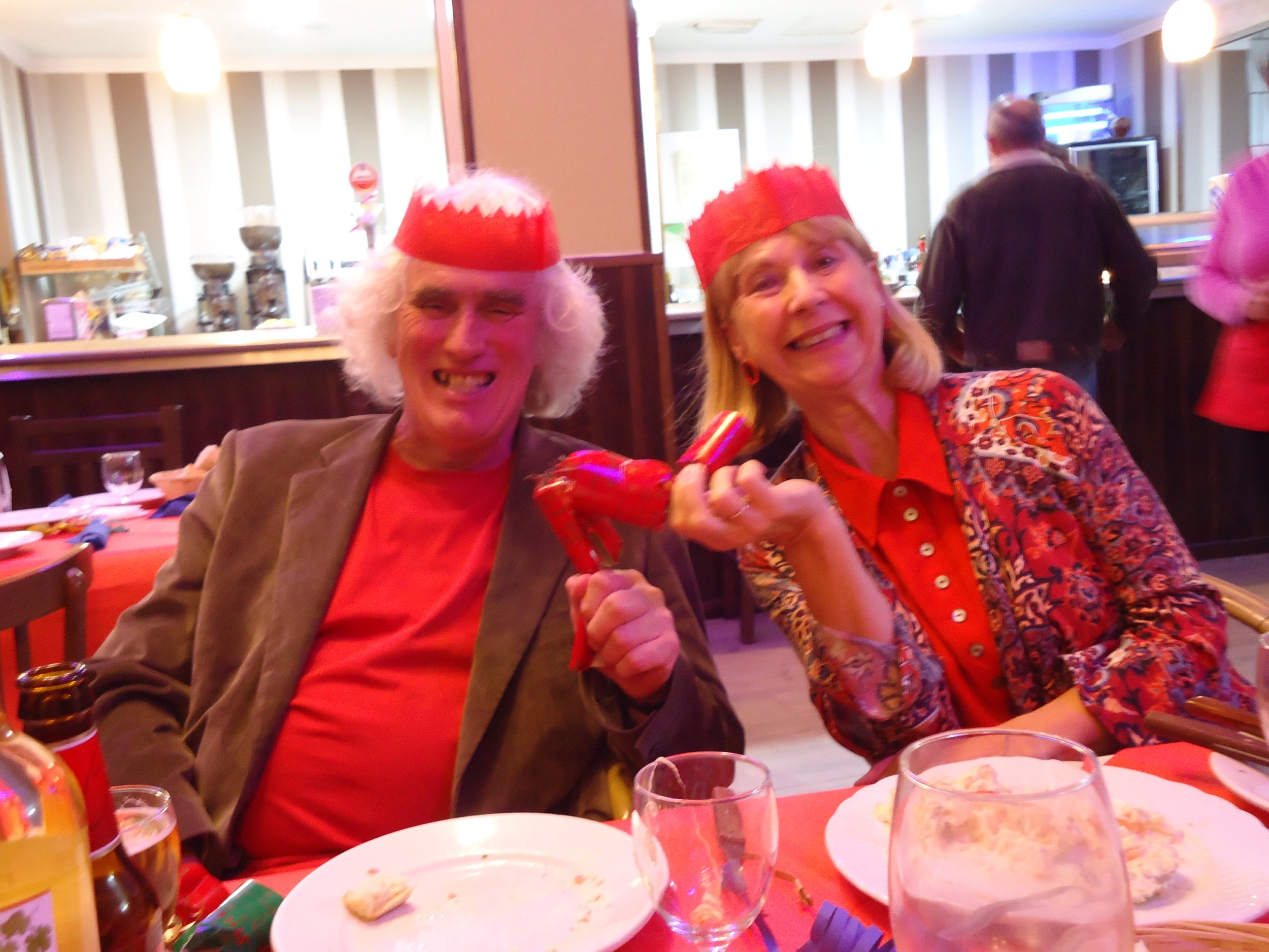 Dick and Anne enjoying the ambience...