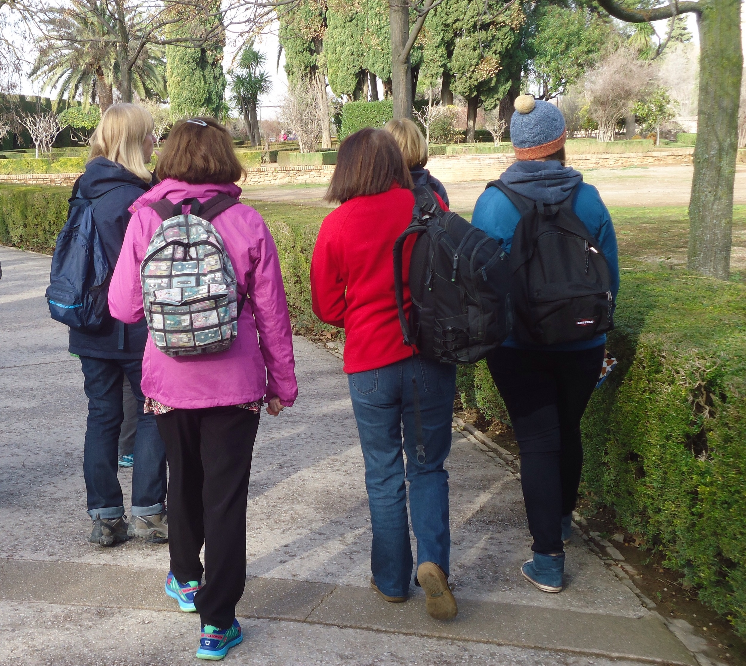 Heading into the Alhambra gardens...