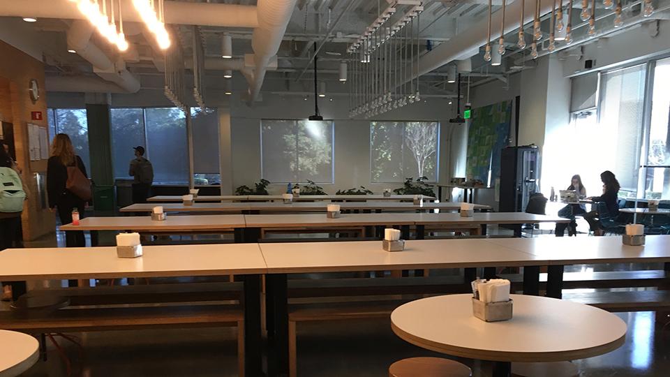 Here is the original cafeteria (Pre Build)