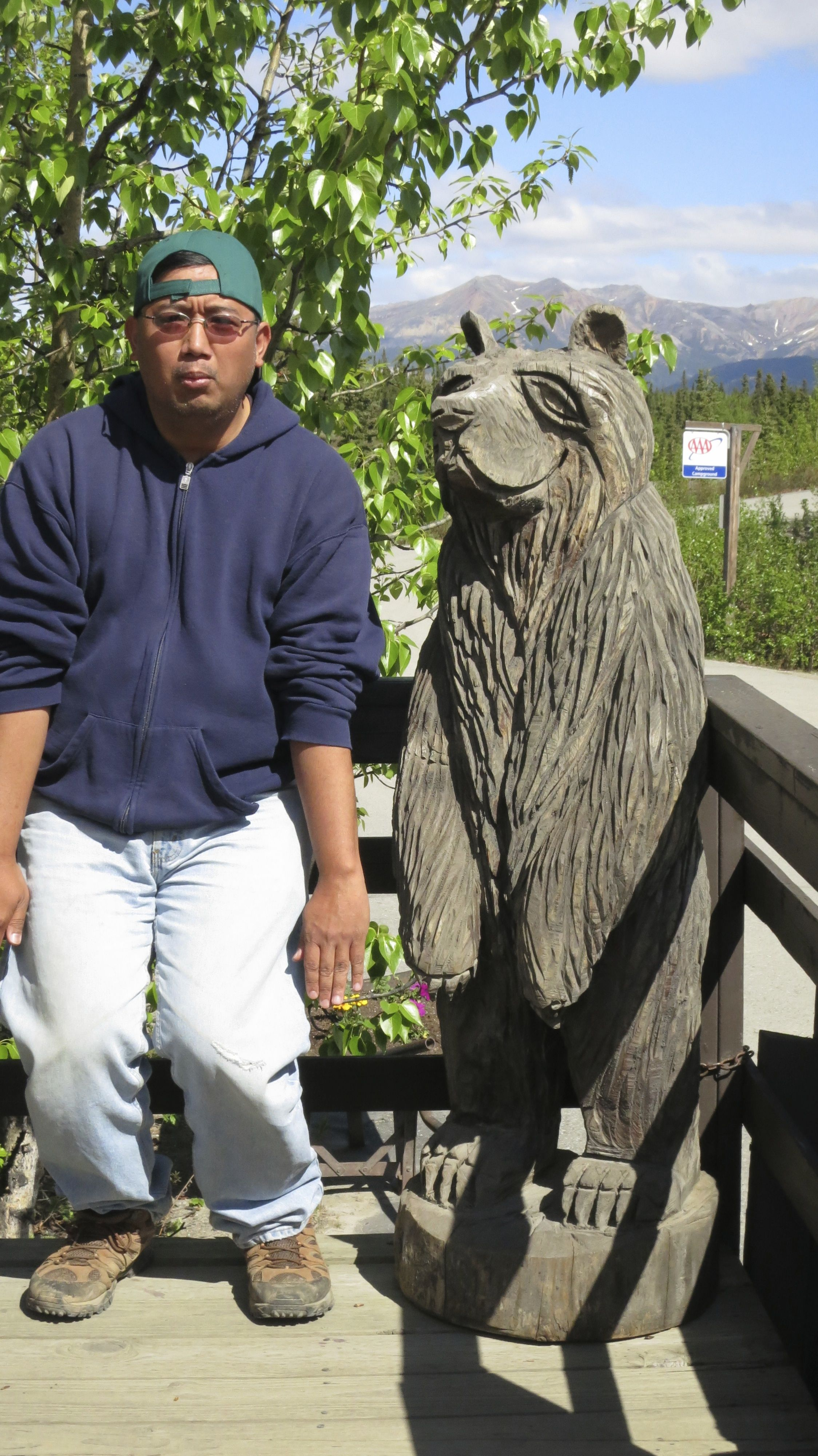 Me and a bear (I'm the one on the left lol)