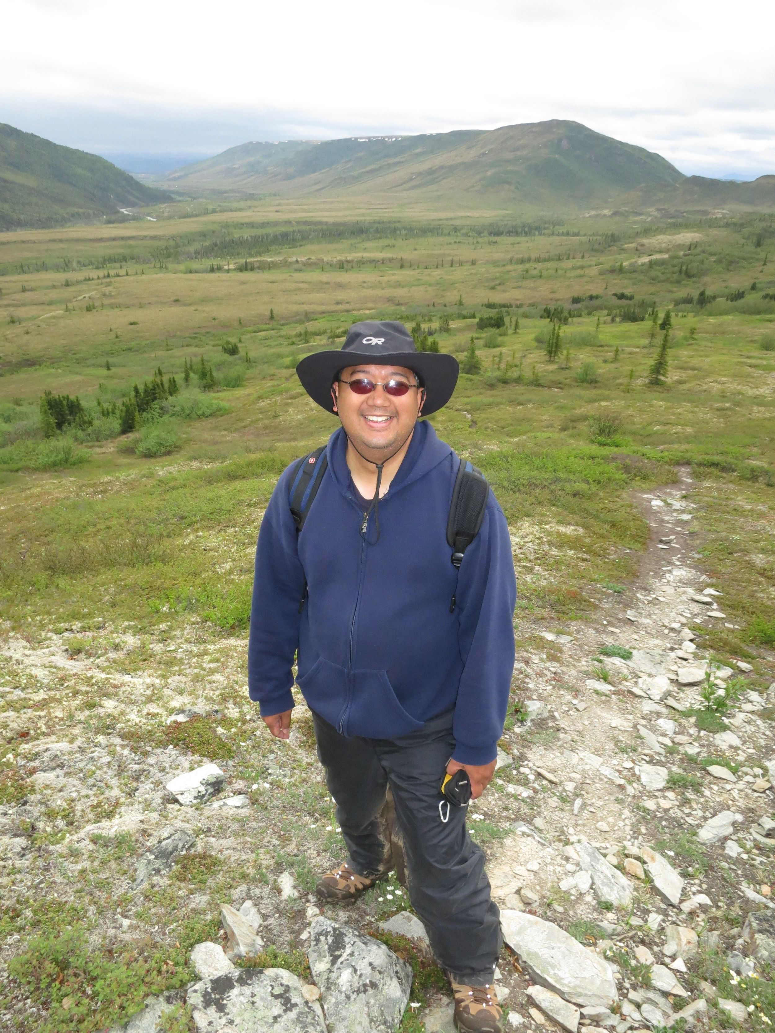 Hiking in the backcountry of Denali park