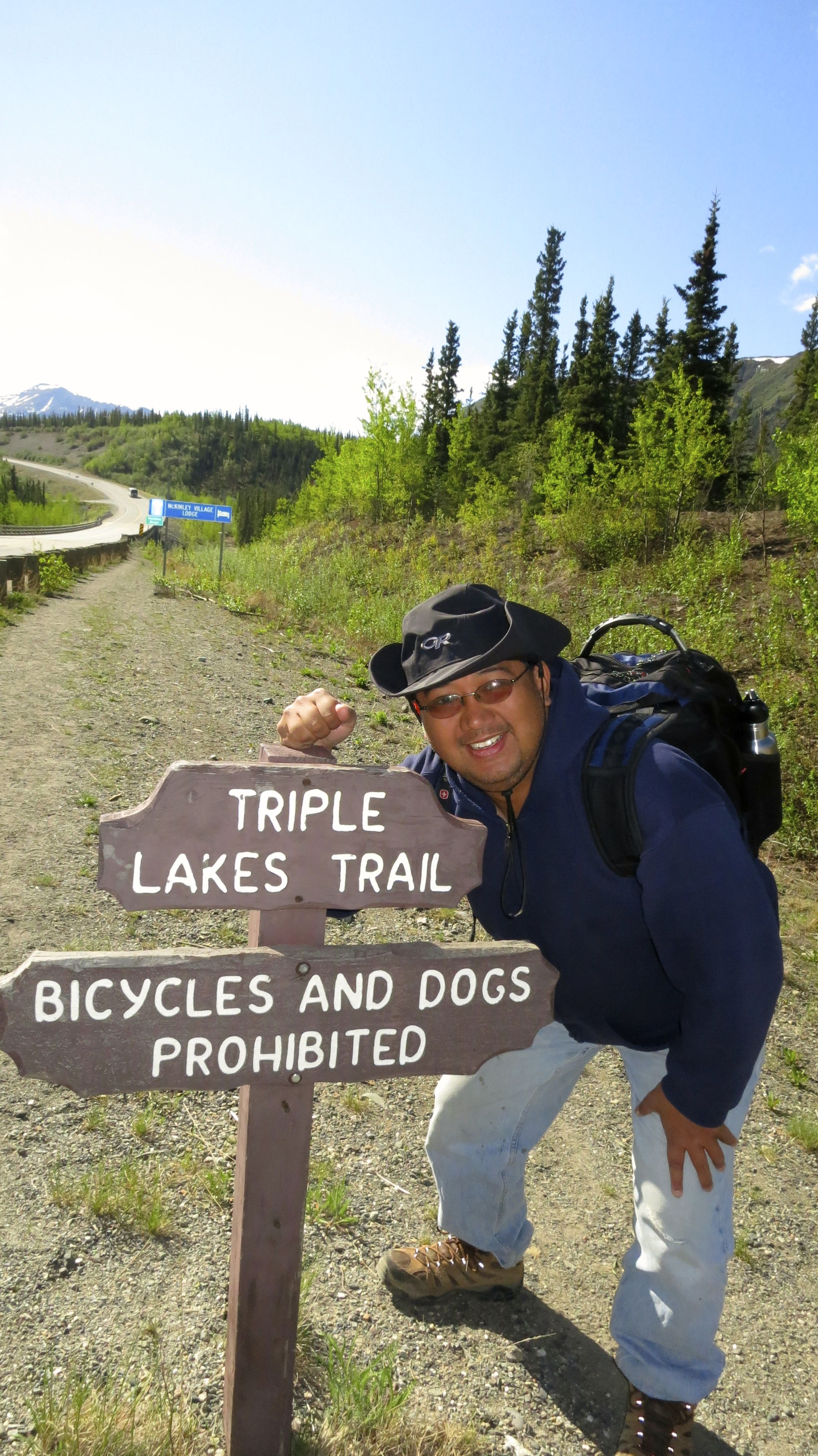 The Triple Lakes Trail  was a long 9.5 mile hike that took most of the day. Didn't think I could make it...