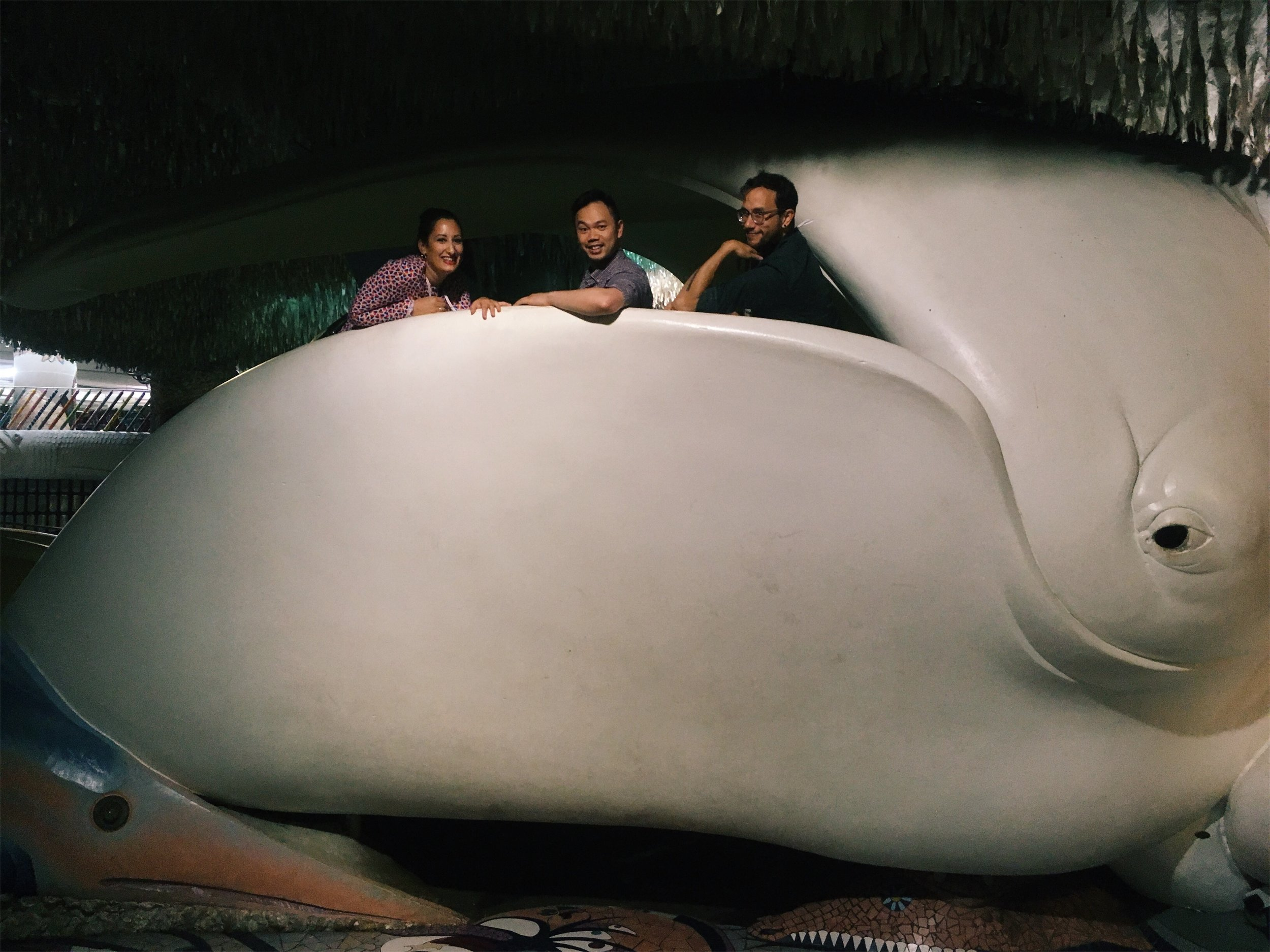 Me and the other Portland-based RLCs chilling in a whale at the City Museum in St. Louis.
