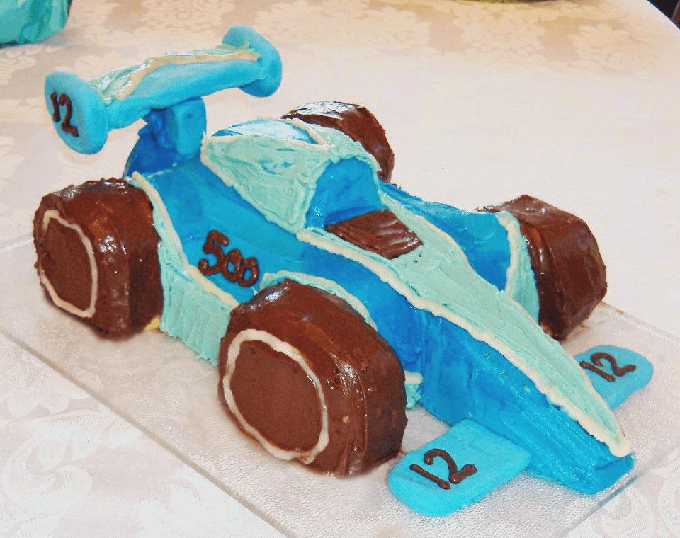 indy 500 race car cake