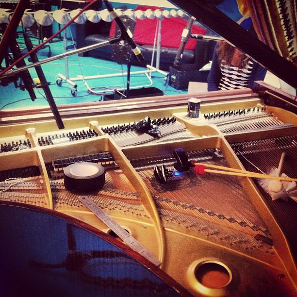 Preparing the piano