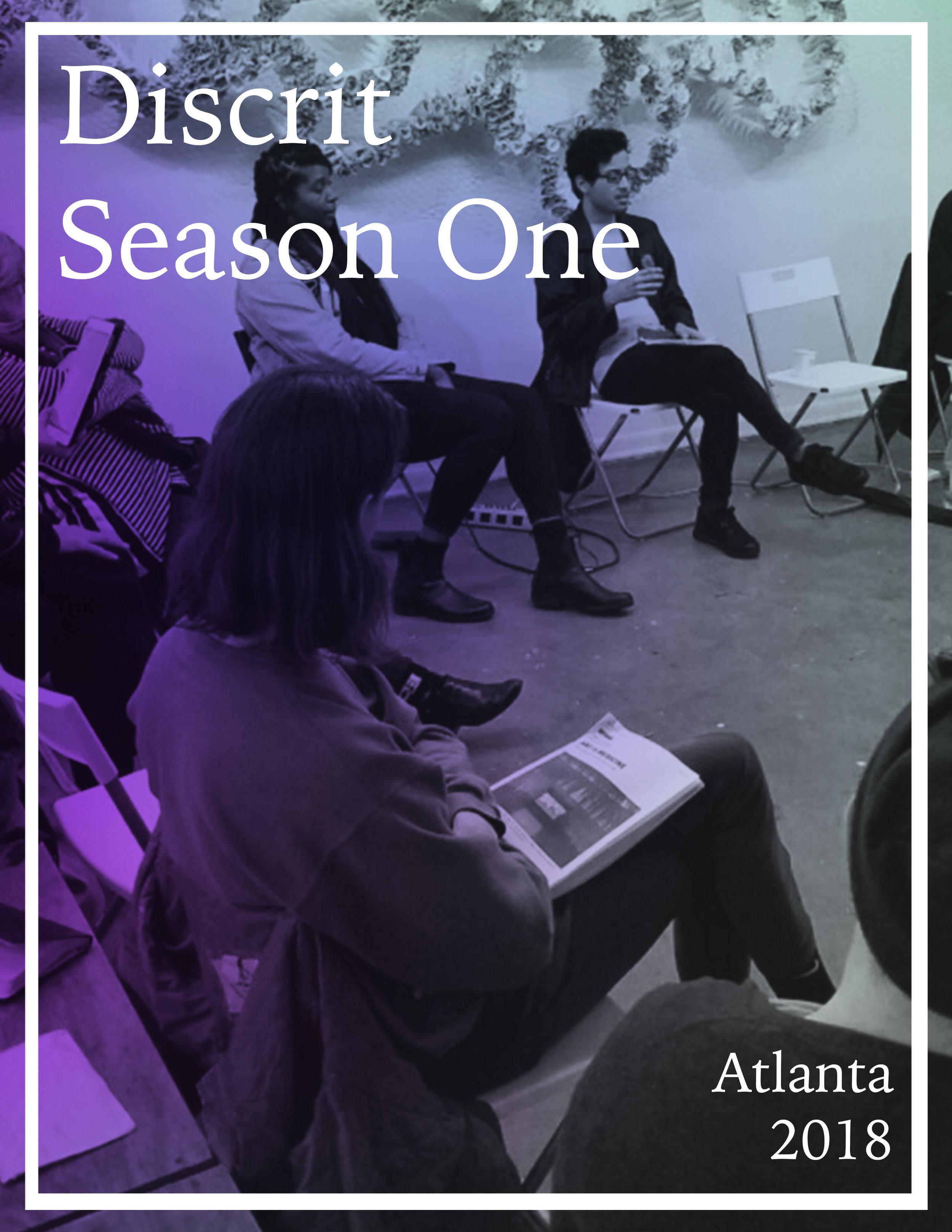 Discrit: Season One - Art Theory Discussion Group (Murmur Media, Atlanta, 2018)
