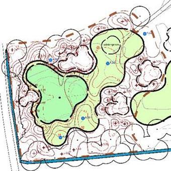 Earthworks grading plan