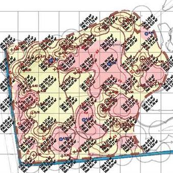 Earthworks cut & fill plan