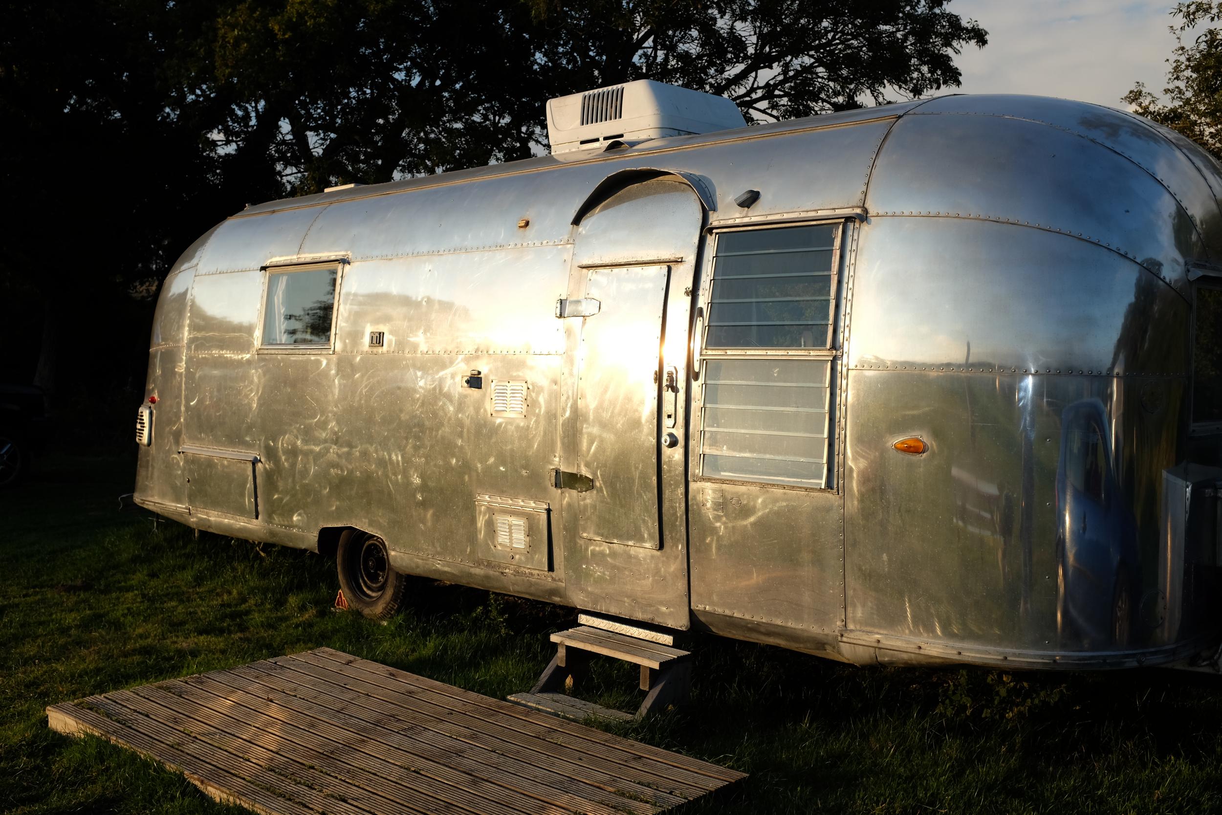 Vintage airstream caravan from Vintage Vacations